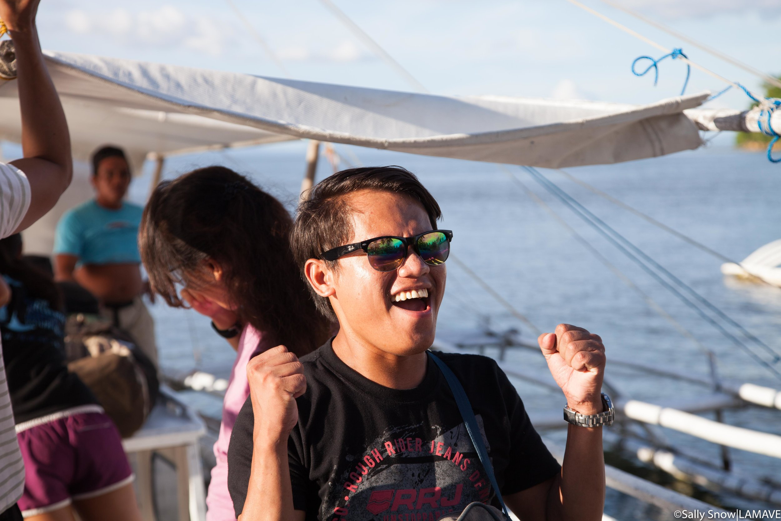 """Jemar declares it a """"win"""" on arriving at Ticao Island Resort"""