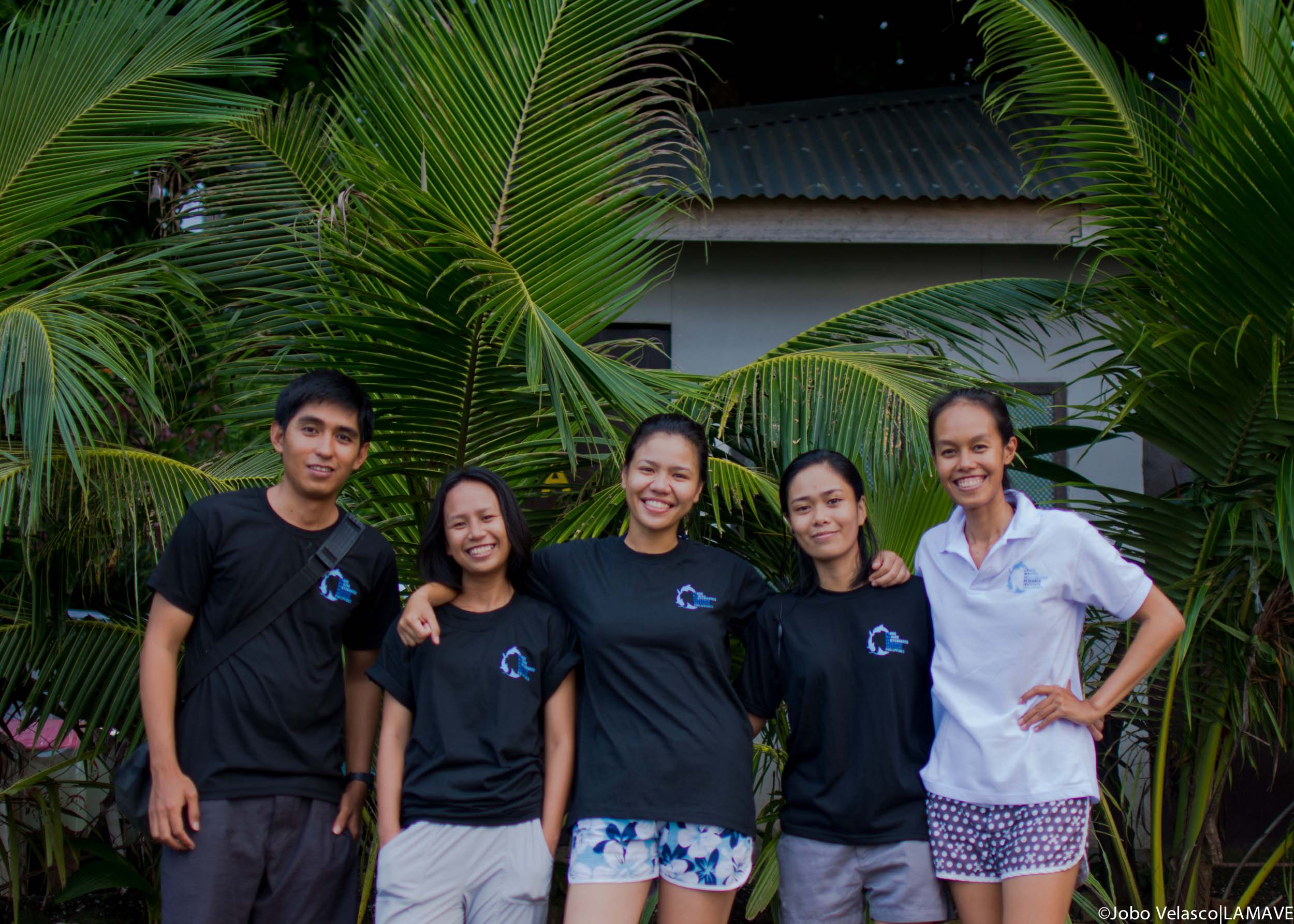 LAMAVE Filipino volunteer staff whale shark project Northern Mindanao