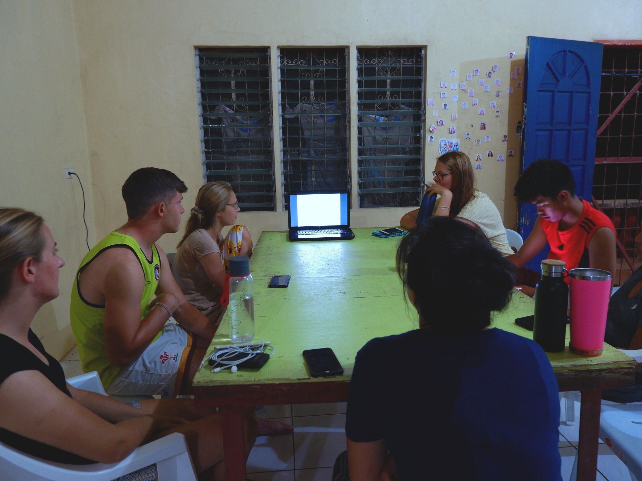 Cebu team conducting their weekly journal club. /Photo by Abi Saldaña