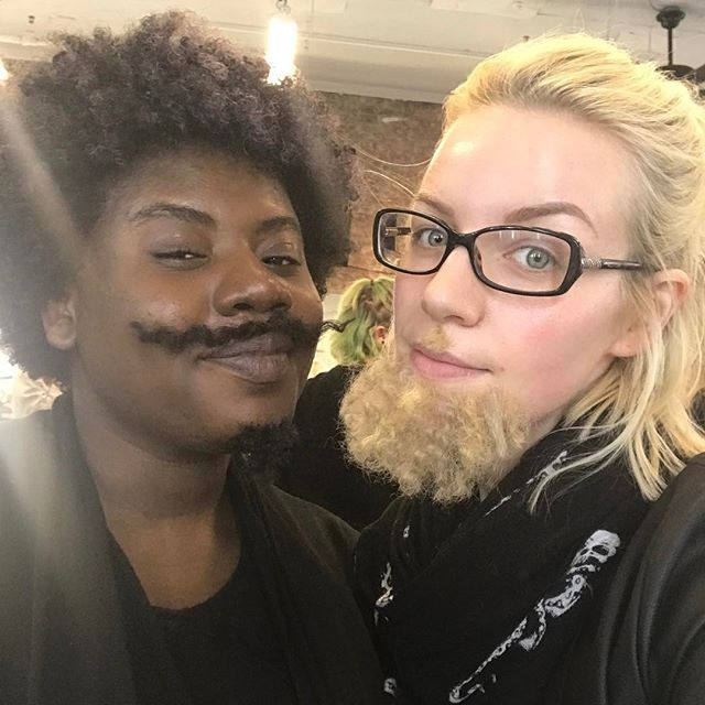 Beards & Stashs today at @makeupforeveracademy with guest instructor @brandalynfulton  Bearded Lady: @anouska_leigh