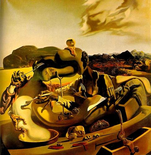 Salvedor Dali「秋のカニバリズム」(1936,油彩, 60 x 60 cm)