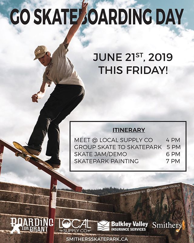 How are you spending your friday ? . Get outside + Go Skateboarding. @local.supply.co @boardingforbrant #boardingforbrant