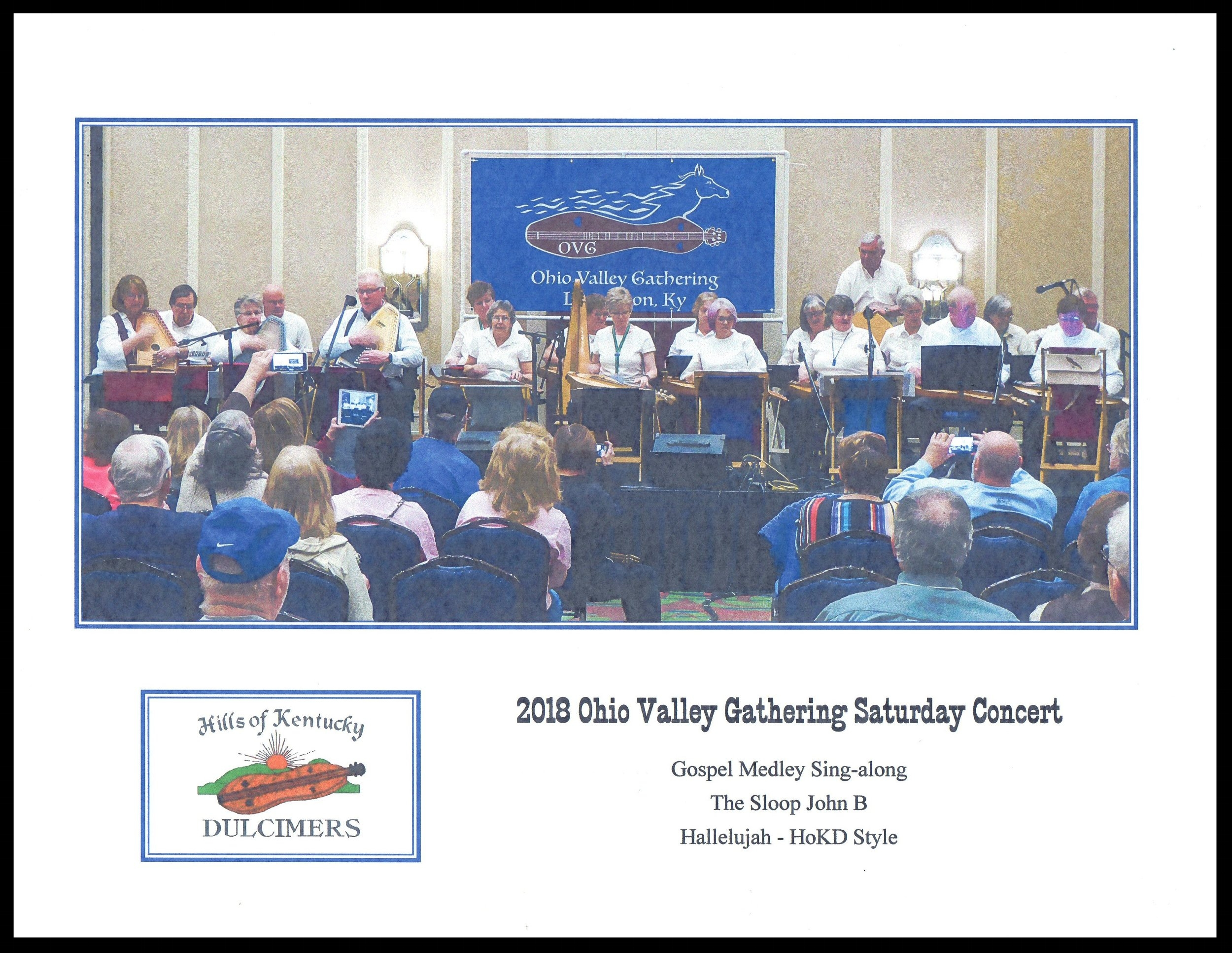 Twenty HOKD members performed onstage during Saturday nights' concert. A big shout out to Rebecca Turney for coordinating our performance and to her husband, Michael for serving as our photographer. THANK YOU!