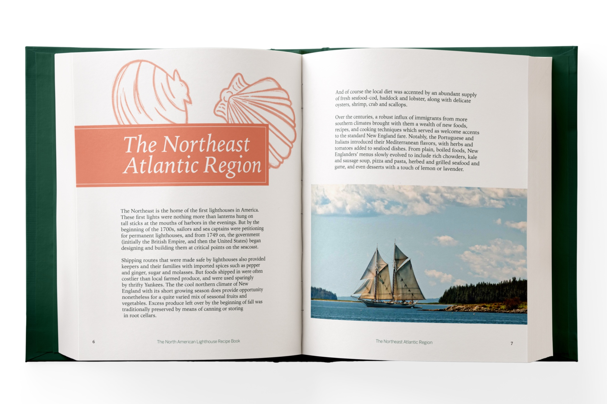 A section header for recipes from the Northeast Atlantic Region