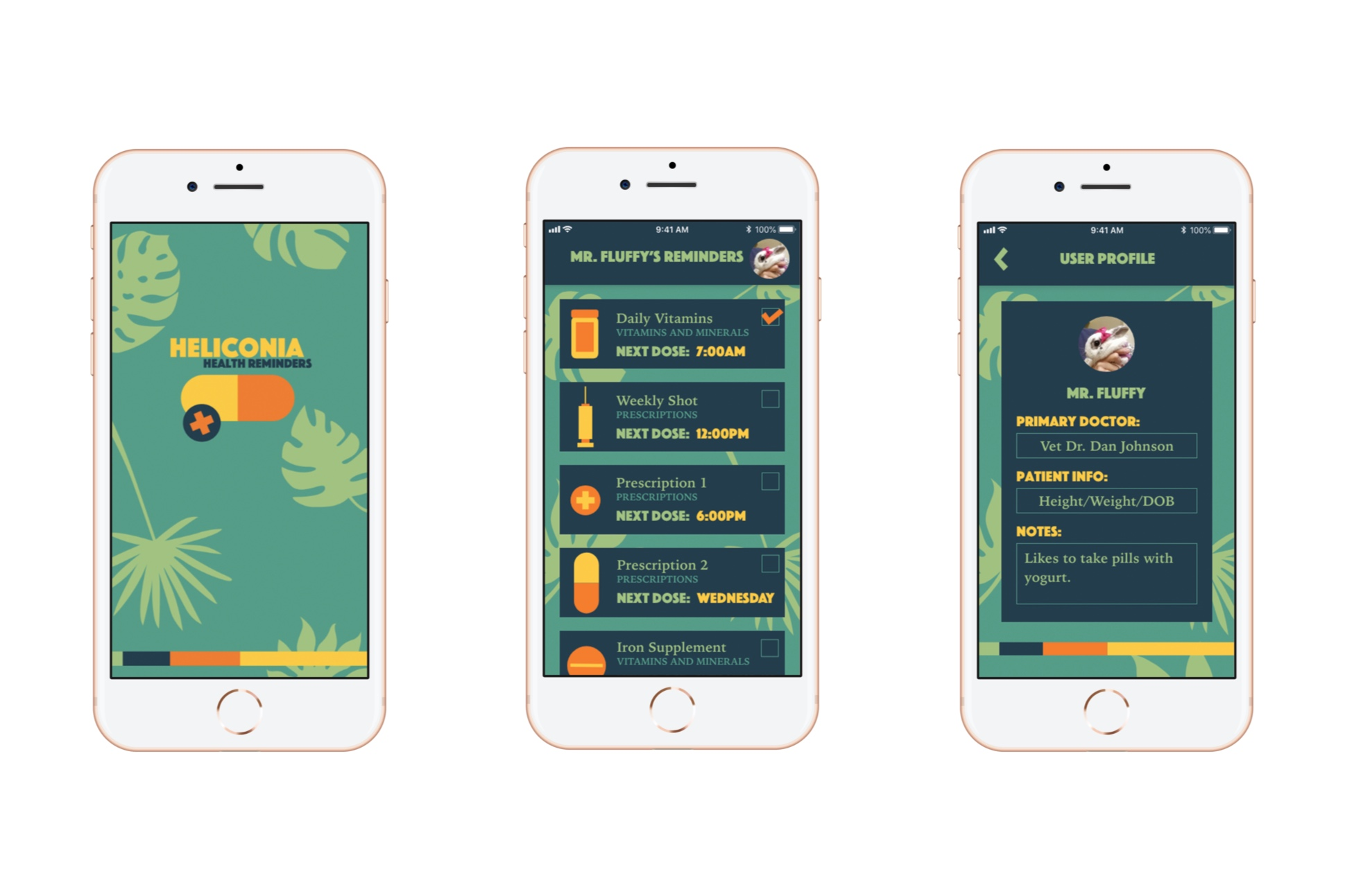 Heliconia: A Health Reminder App