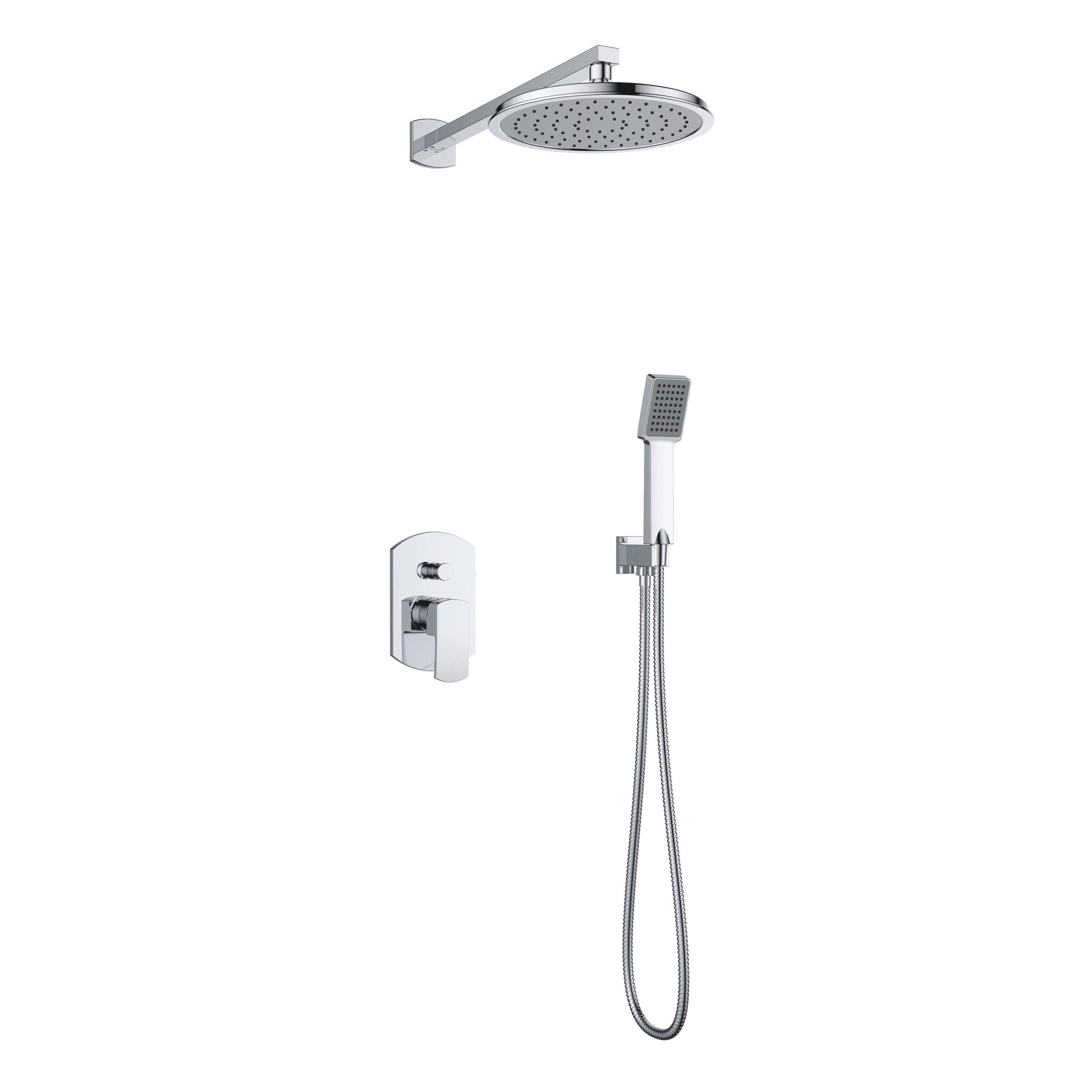 7357-101: Concealed shower valve with shower set and head shower