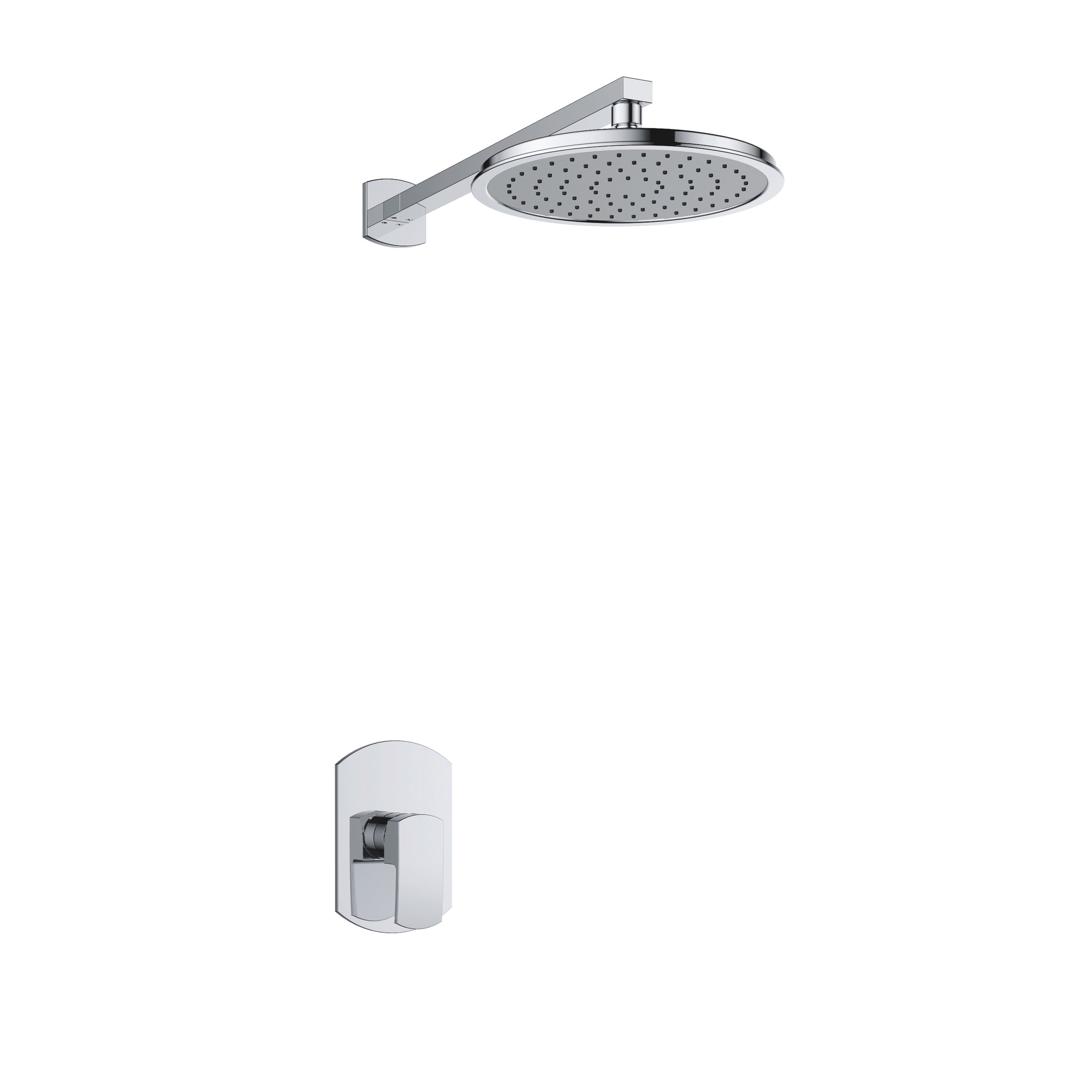 7357-102: Concealed shower valve with head shower