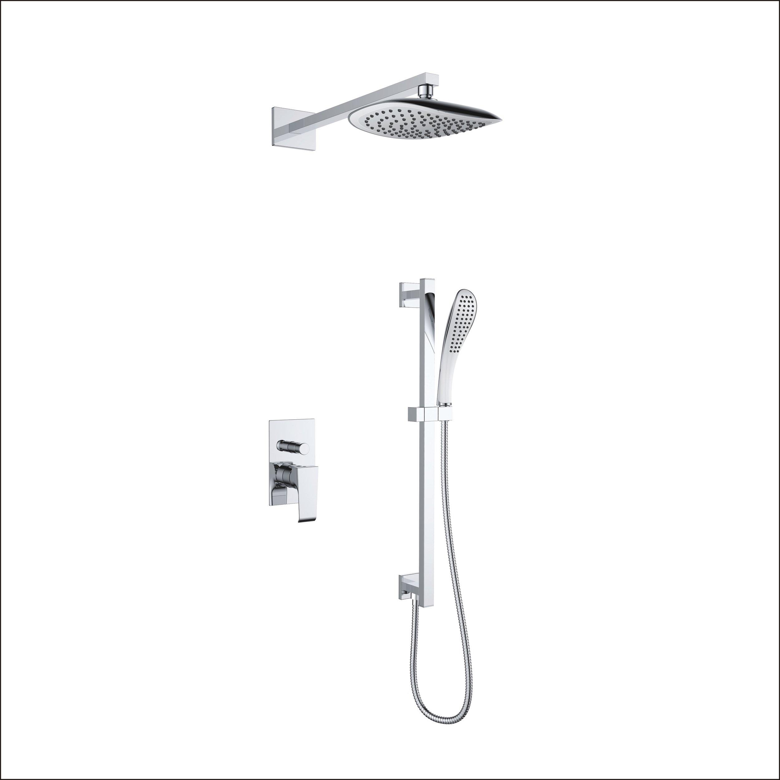 7167-104:Concealed shower valve with shower set and head shower