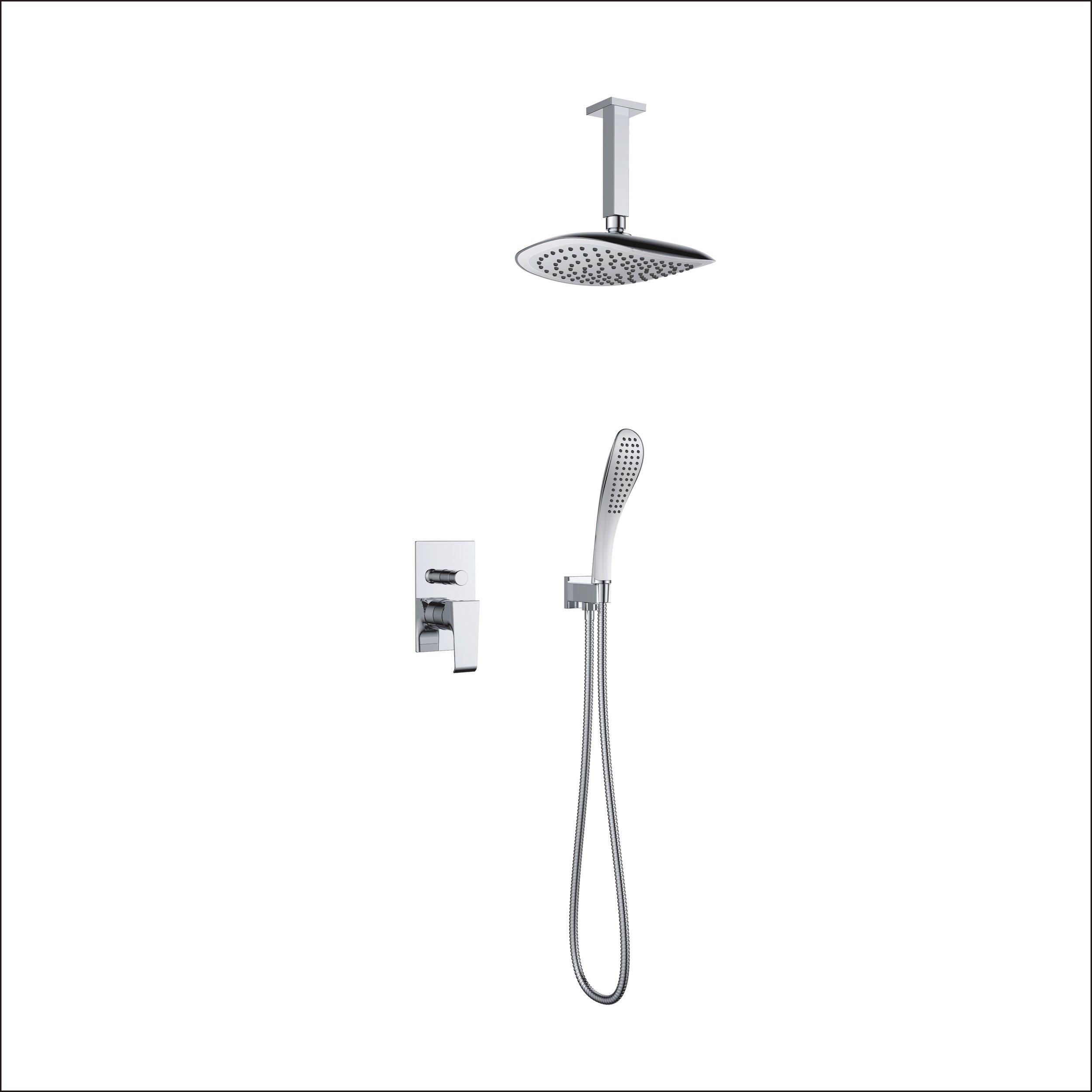 7167-106:Concealed shower valve with shower set and head shower