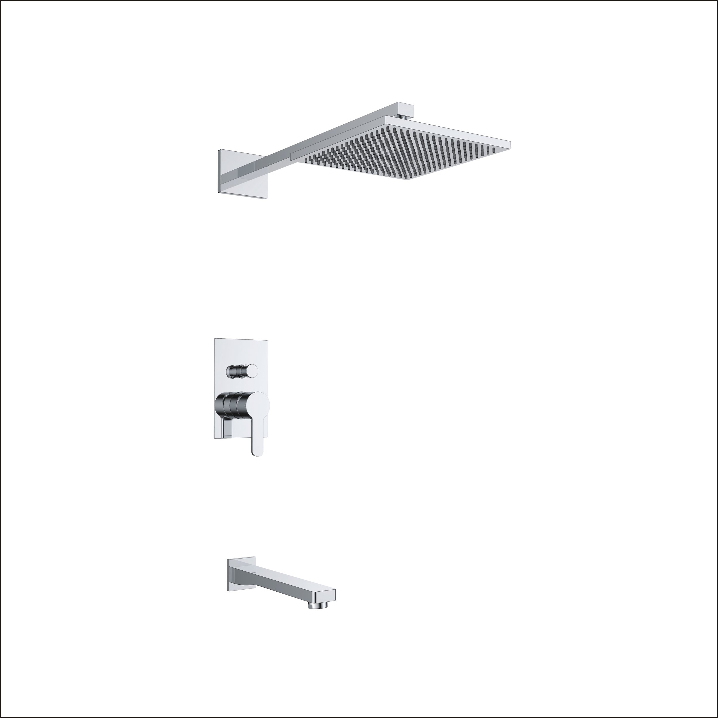 7187-101: Concealed shower valve with spout and head shower