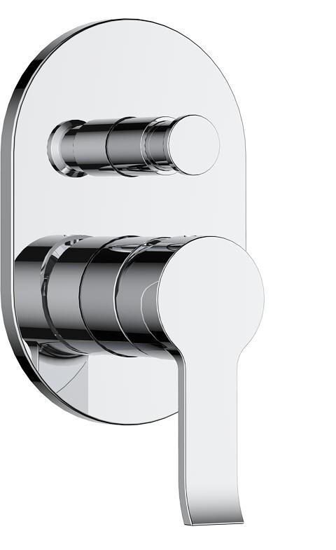 736-106: Concealed shower valve with diverter