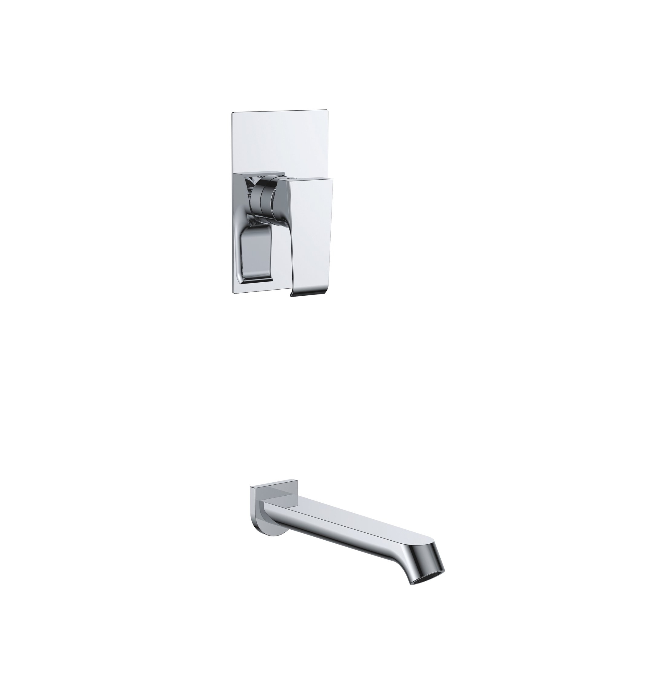 7167-102:Concealed shower valve with spout