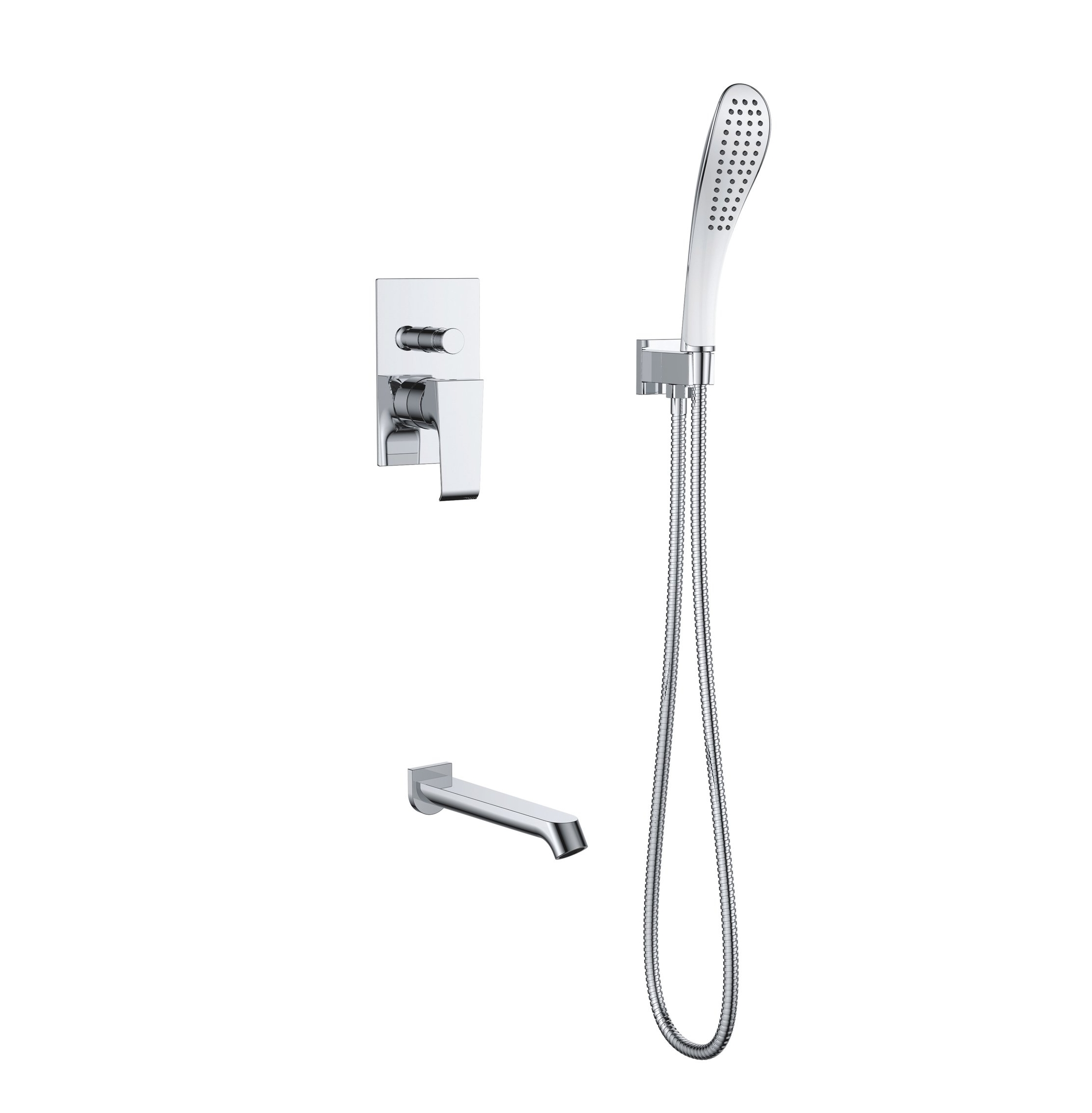 7167-103:Concealed shower valve with shower set and spout