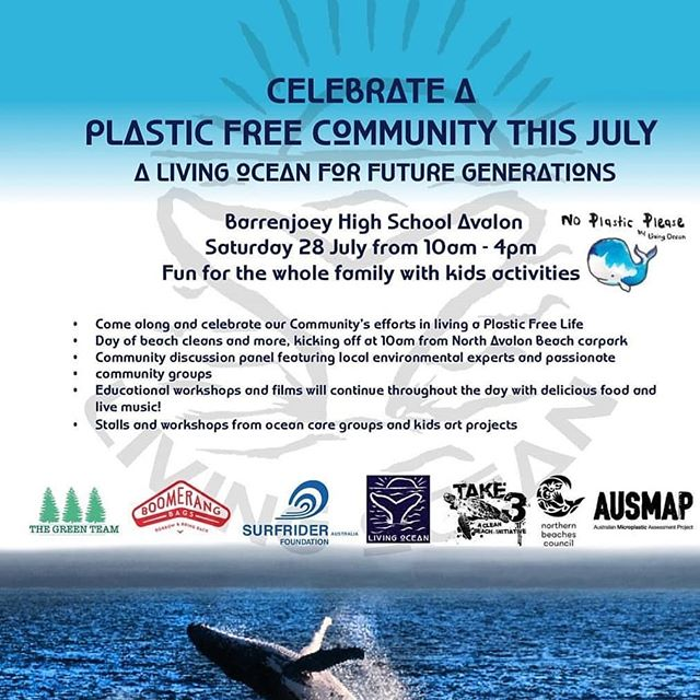 Living ocean does a great job of promoting a plastic free community, aswell as protecting our beaches & oceans. This Saturday they're having a open day at Barrenjoey High School. Check it out. It might just change your life or our world for the better!