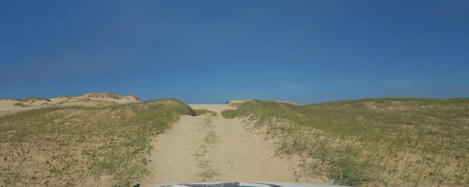 DRIVING ON THE SAND DUNES