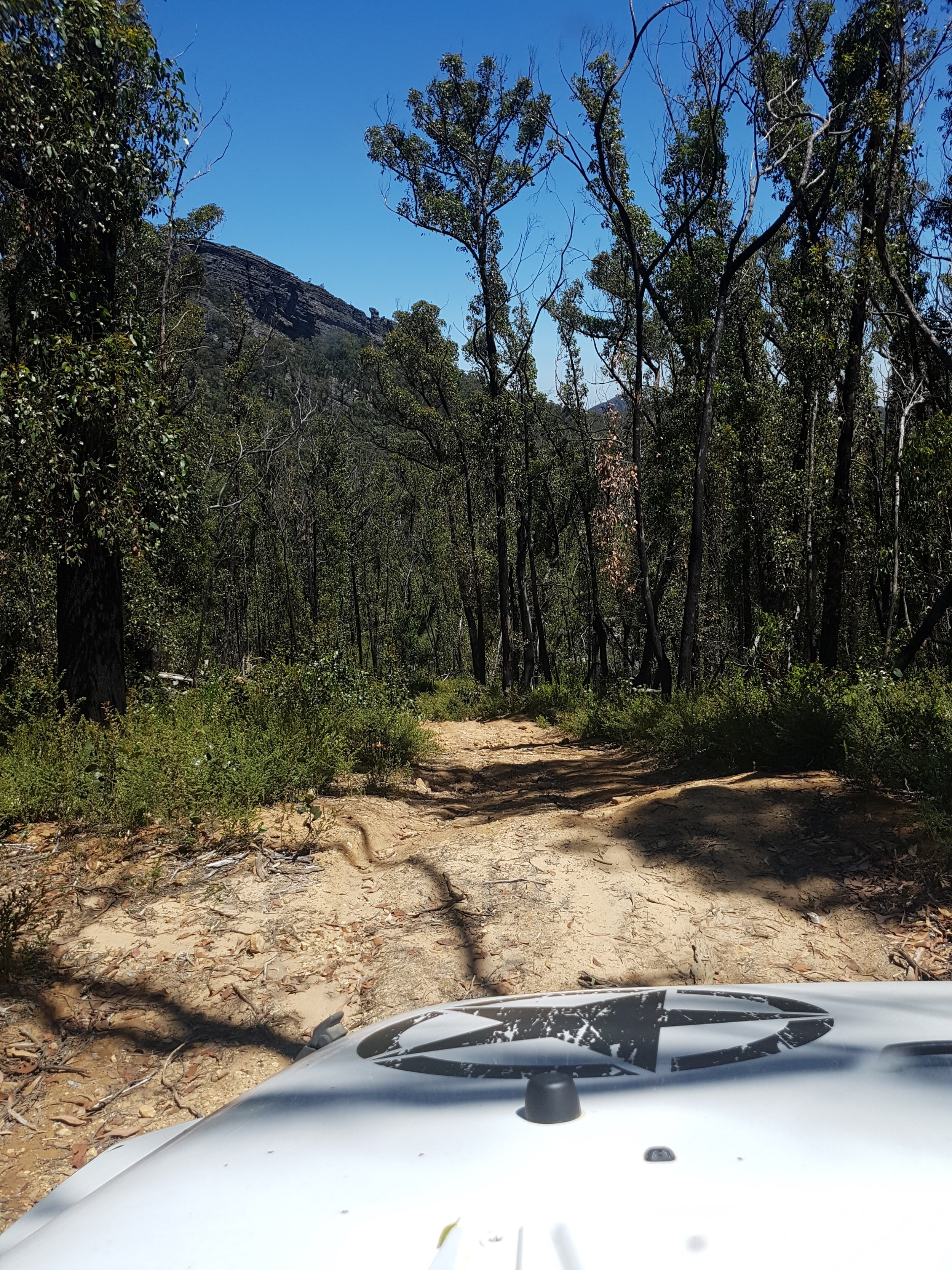 4WD tracks at the Grampians were rocky and at times steep - level of difficulty can be marked difficult at times and allow extra travelling time.
