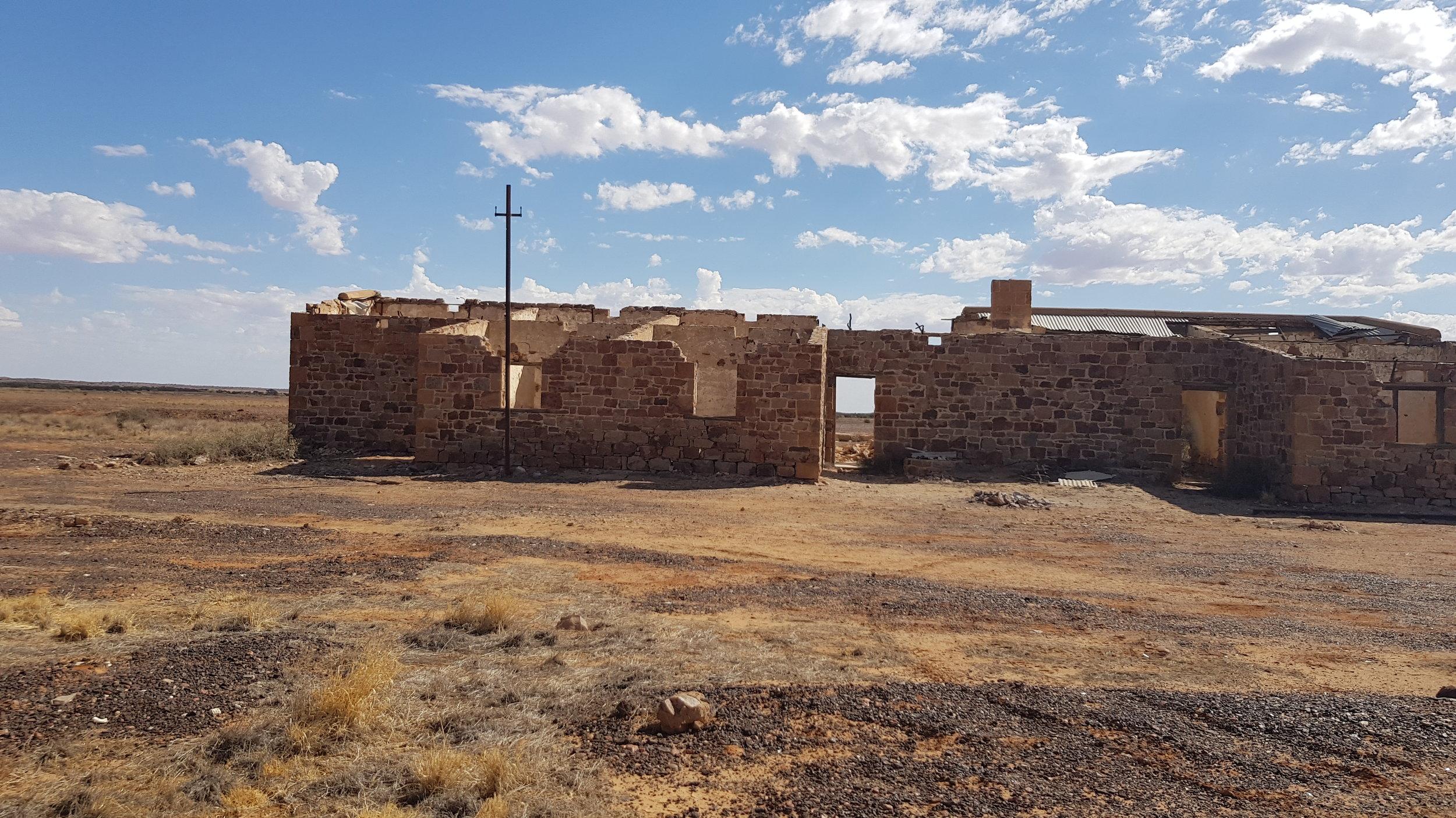 Algebuckina Siding ruins