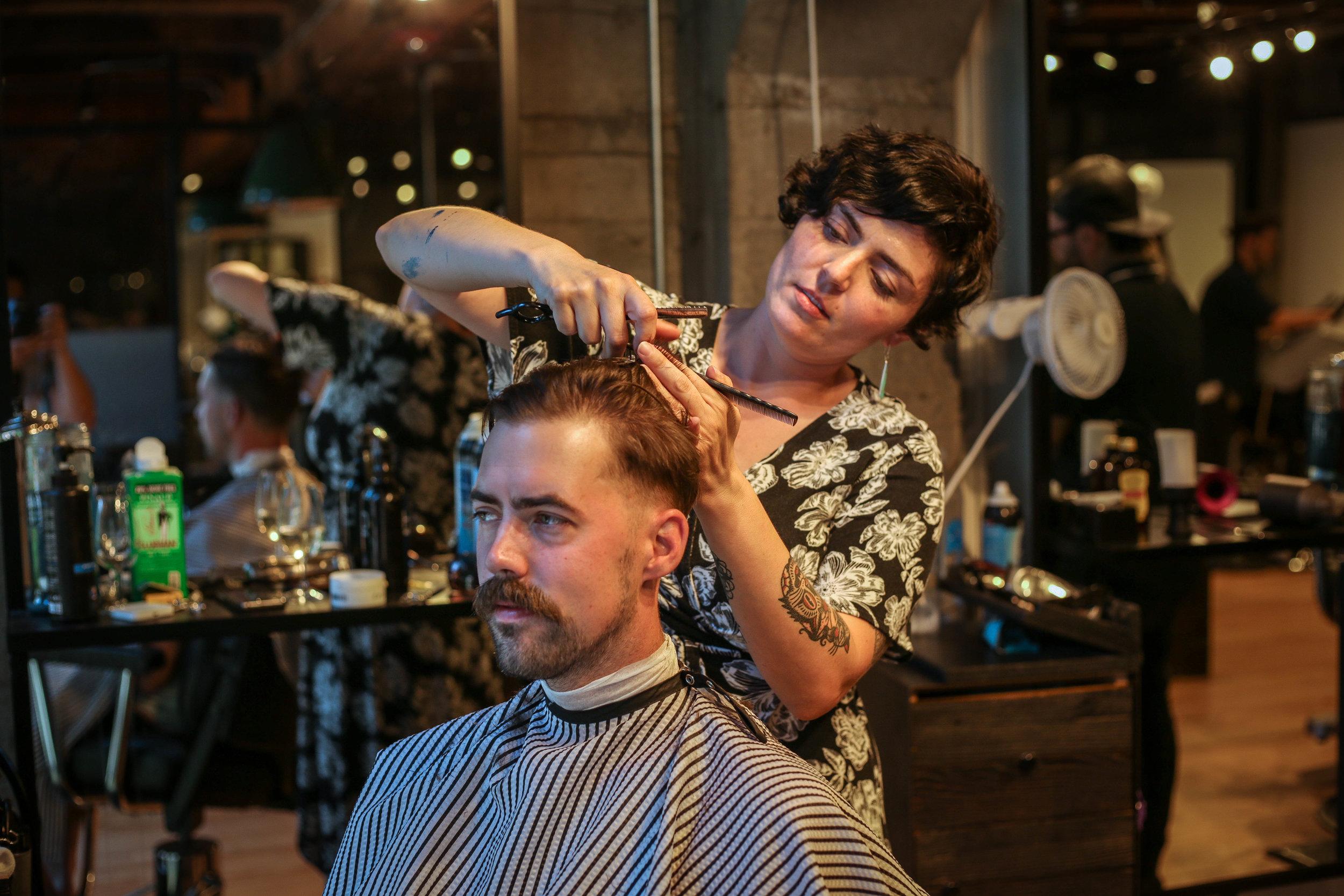 Scotch Pine owner Emily Rawlings with husband Josh Rawlings.