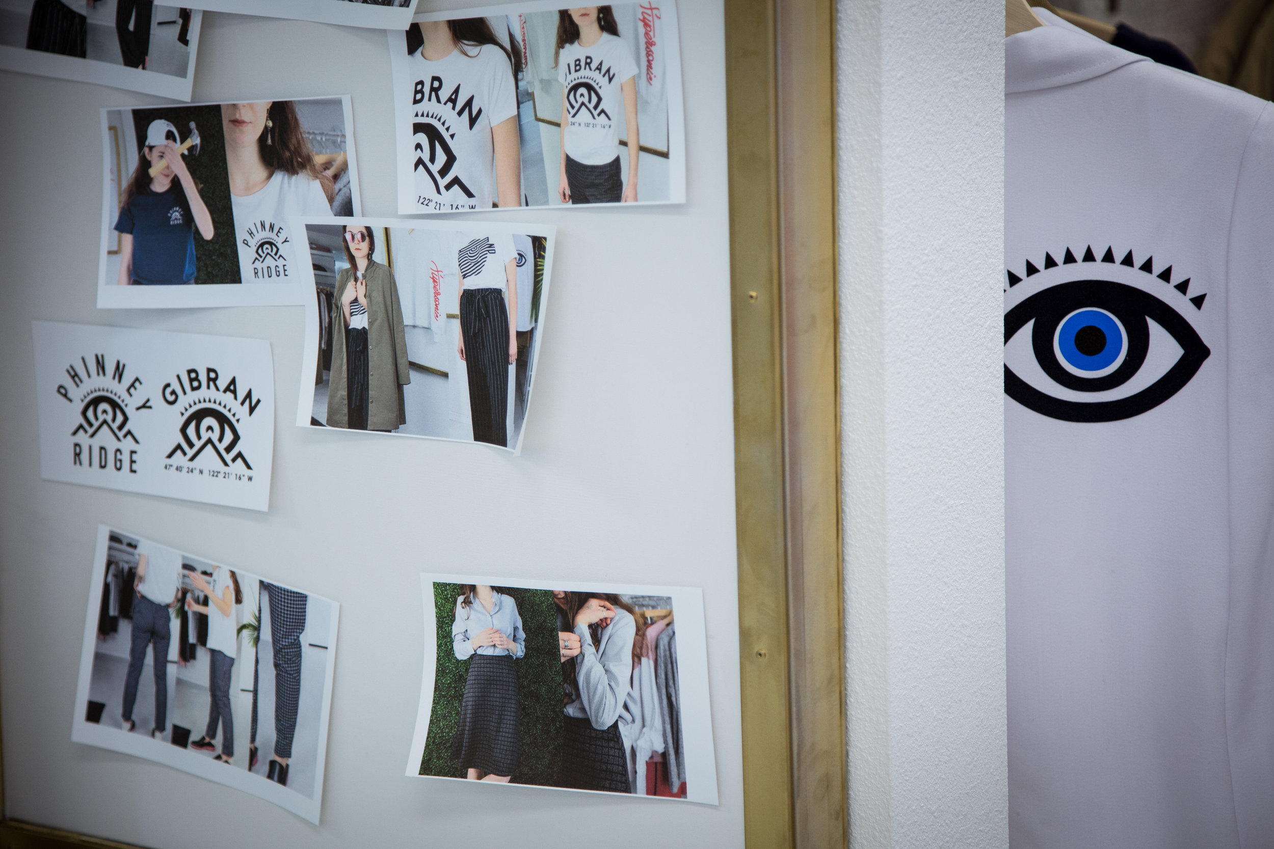 A shot of one of Gibran's look boards.