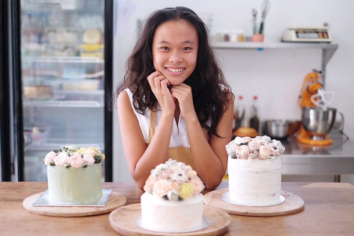 Arielle, young entrepreneur starting up vegan cakery business in Bali