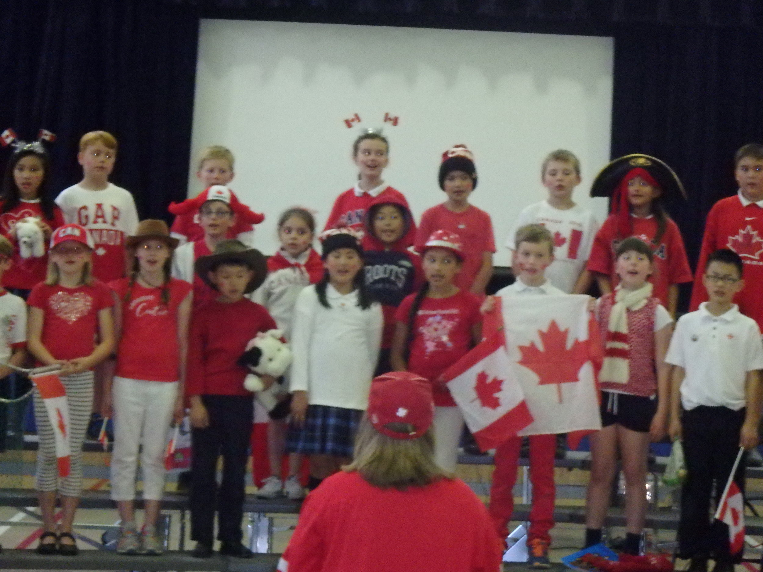 """Together We Are Canada"" A Poem performed by Grade Three"