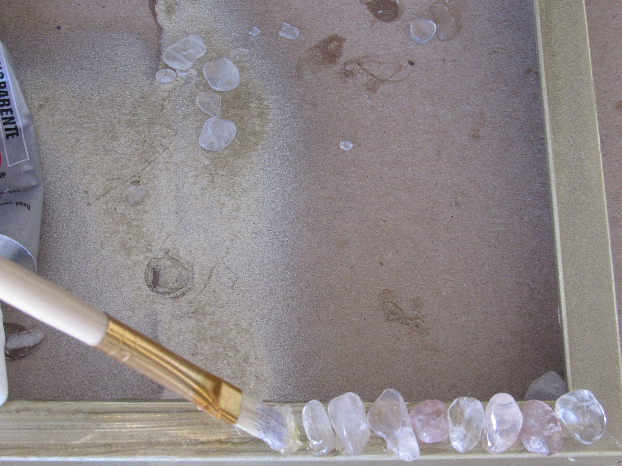 Gluing Crystals on Frame.JPG