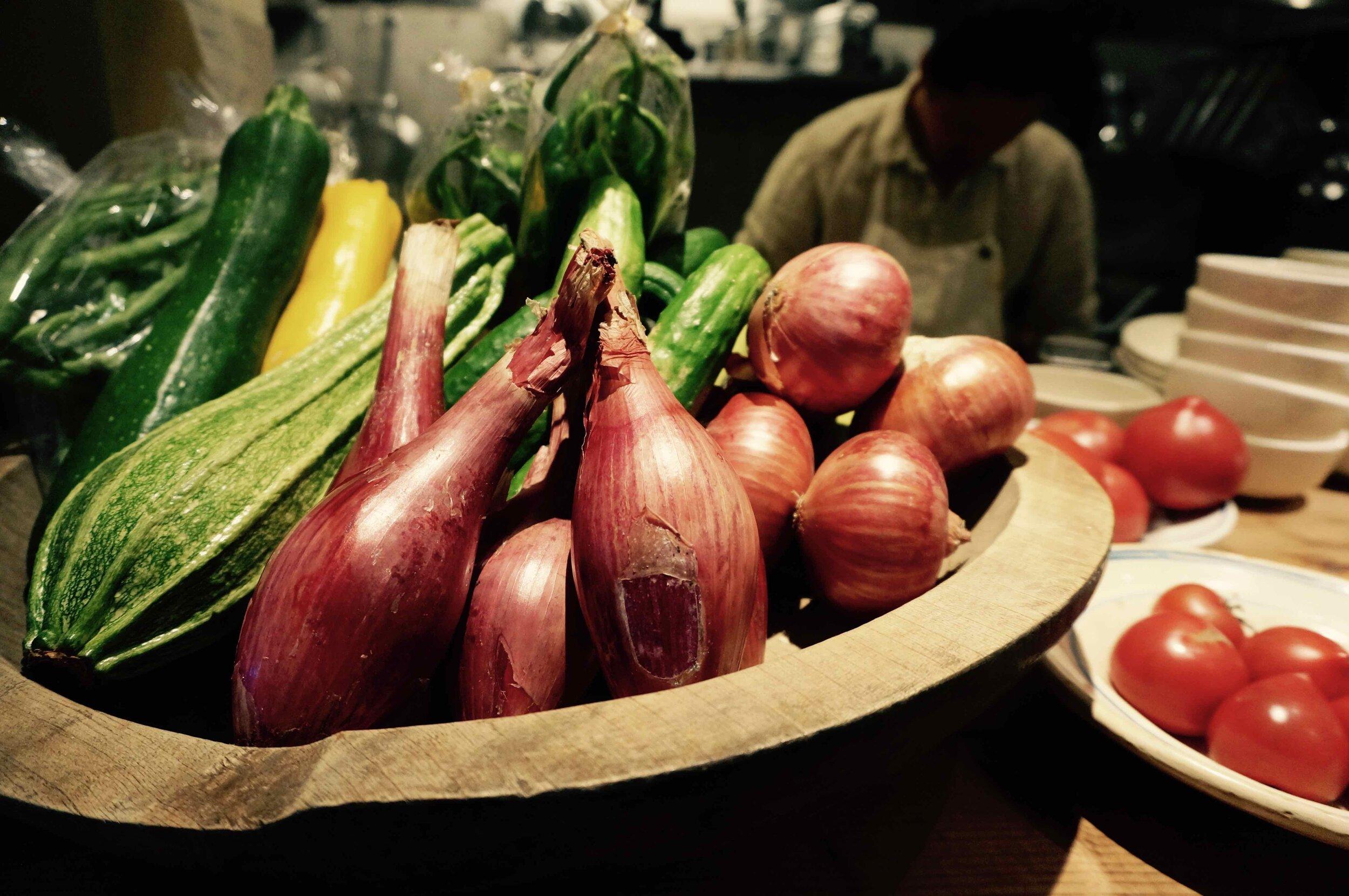 新鮮な地元野菜のベジミール