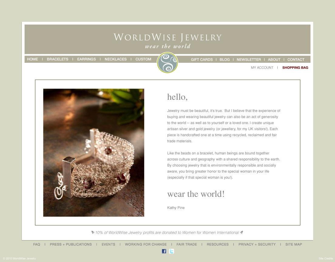 Worldwise Jewelry | Website