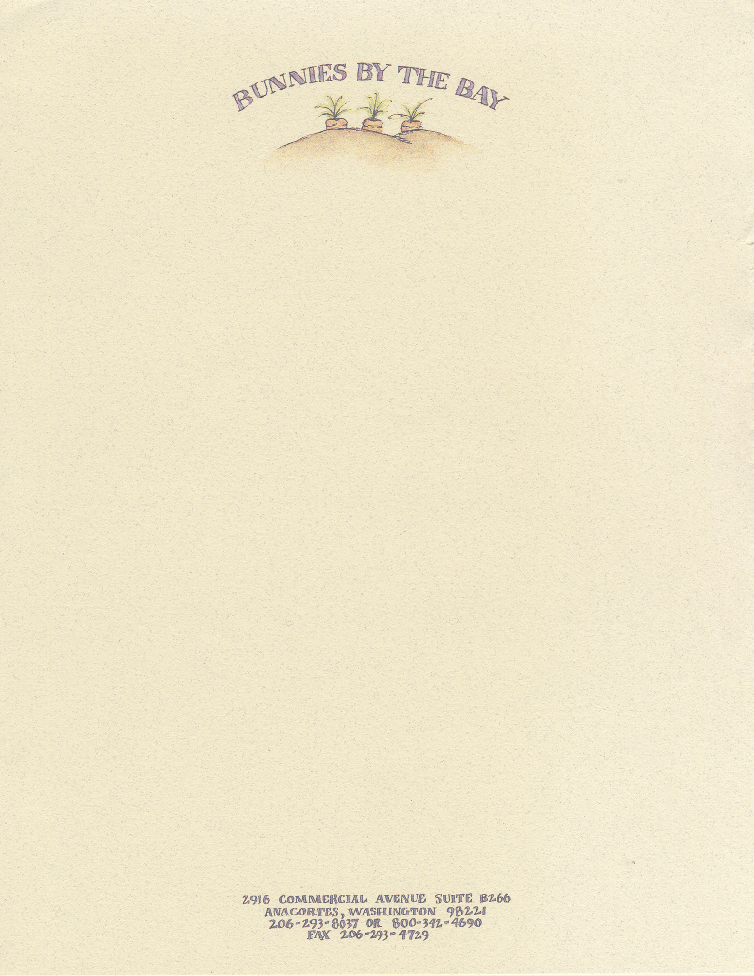 Bunnies By The Bay | Letterhead