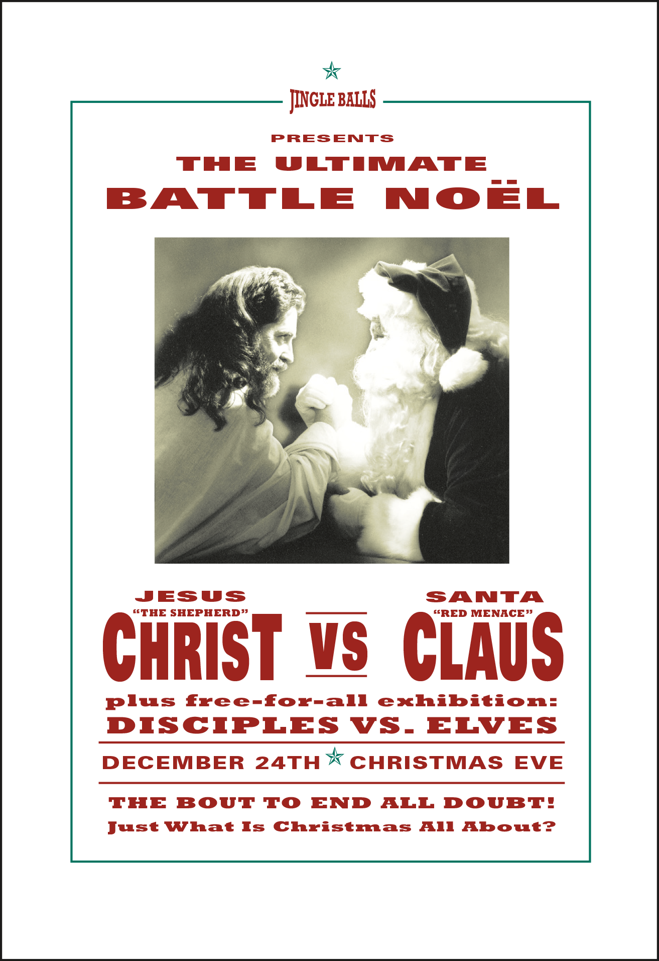 Christ vs Claus | Xmas Card