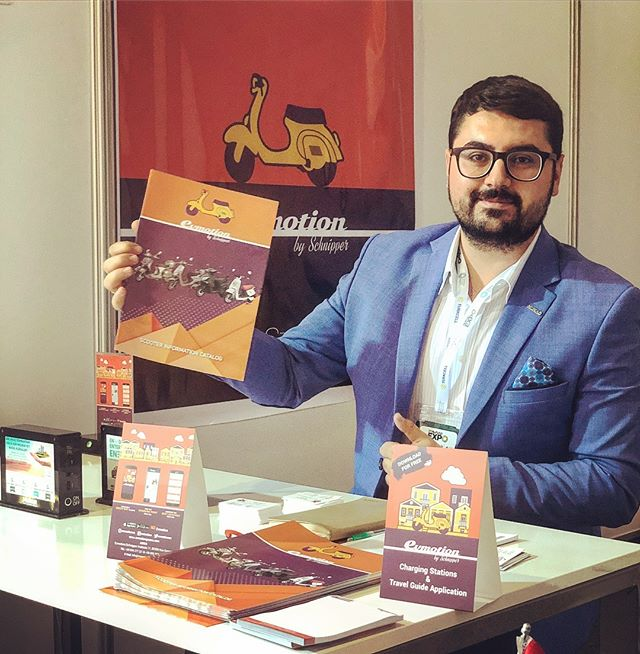 We are at the biggest Expo in Turkey 🇹🇷 #evmotion #greece #turkey #application #expo #musiad #entrepreneur #scooter #evehicles #ebike #escooter #vespa #chargingstations