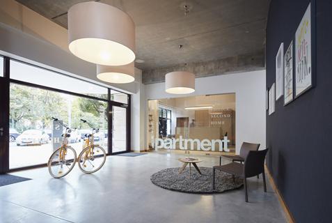 iPartment Frankfurt, Apartmenthaus Europaviertel. Interior Design: Bergner Meijerink, Fotografie: Studio Fünf6
