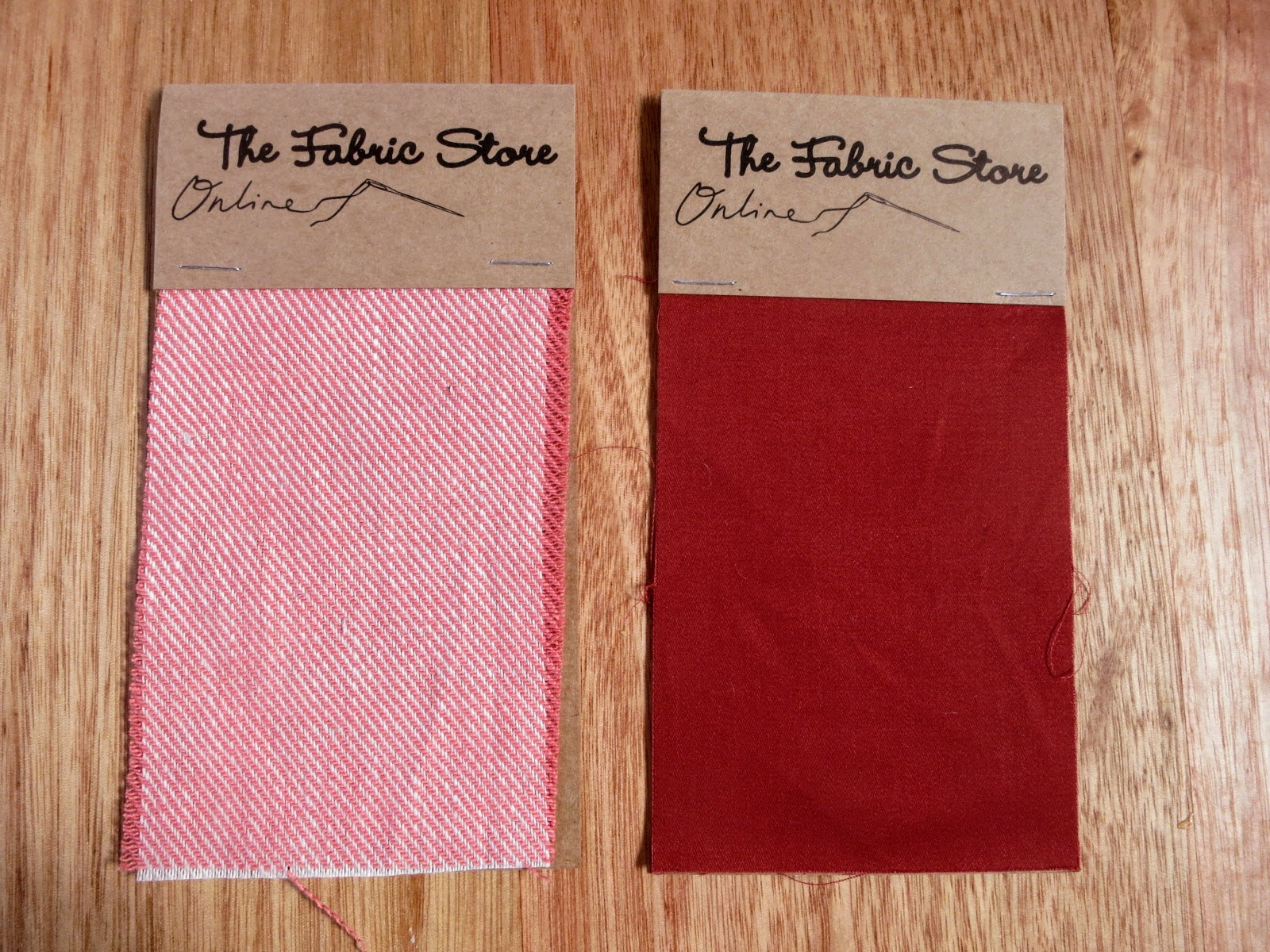 Twill samples from The Fabric Store