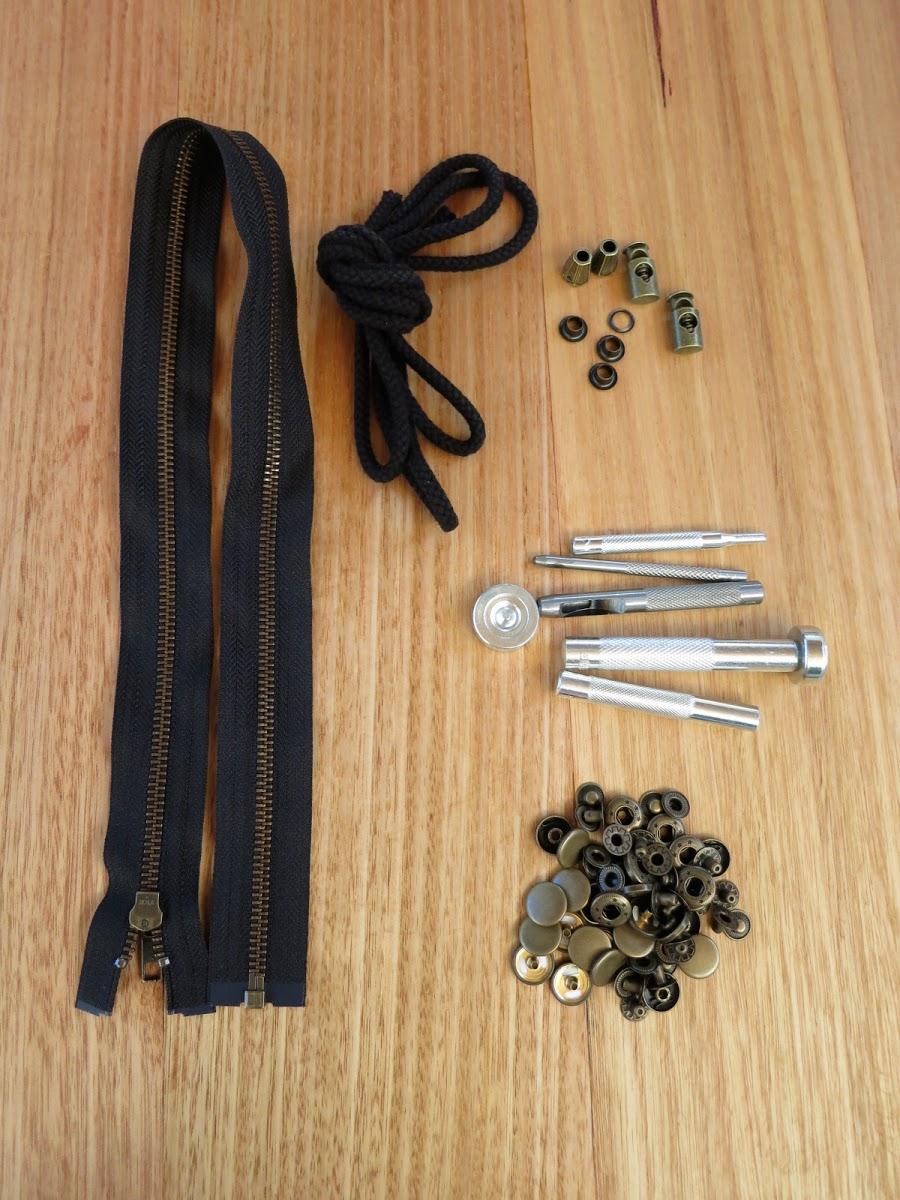 The Kelly Anorak Hardware Kit
