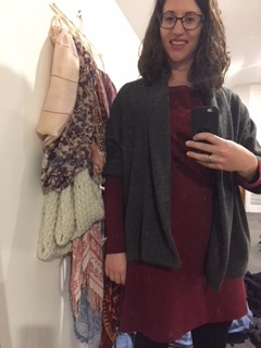 Bersharl coat layered over my Coco dress by Tilly and the Buttons  (Excuse the terrible mirror selfie which I took in a hurry before going out!)