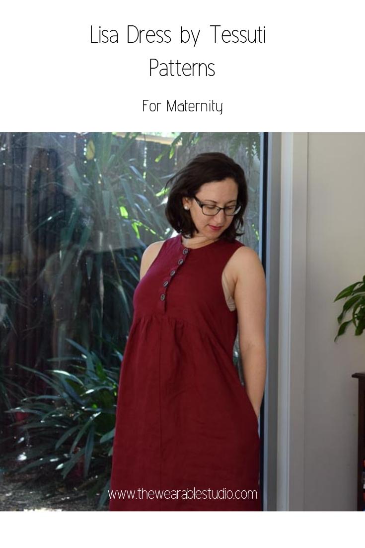 Maternity Lisa Dress by Tessuti Patterns