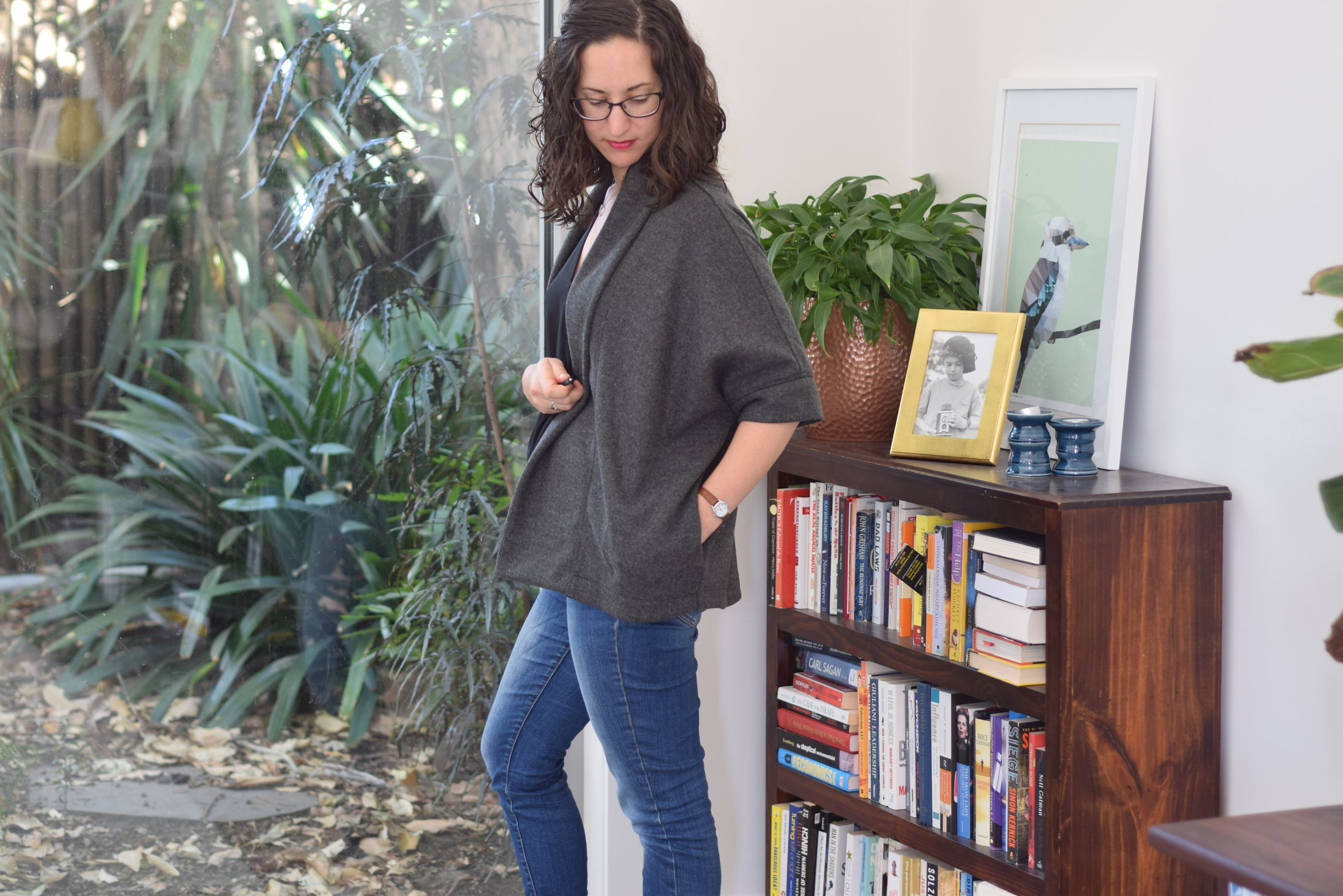 Bersharl jacket which I made in a wool blend coating. Click to see the full review