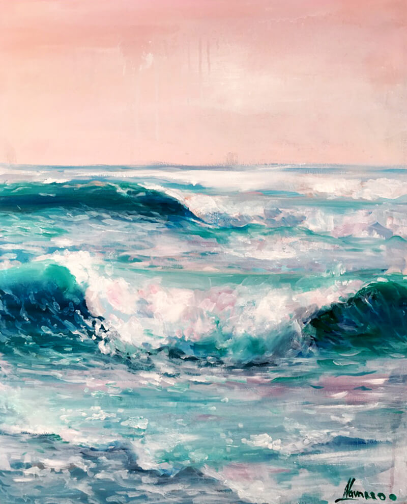 Purchase this painting here: http://navarroartgallery.com/product/coastal-canvas-wall-art-pink-skyes