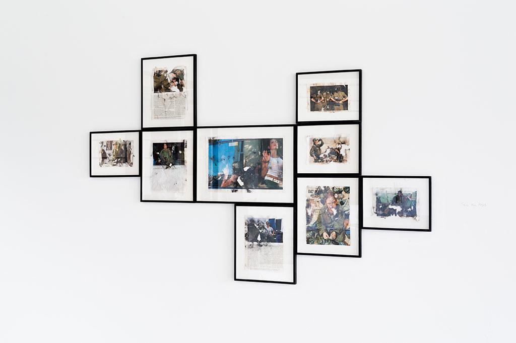 Homesick Series (ex. view), 2009, Paper and gunpowder, steel-framed