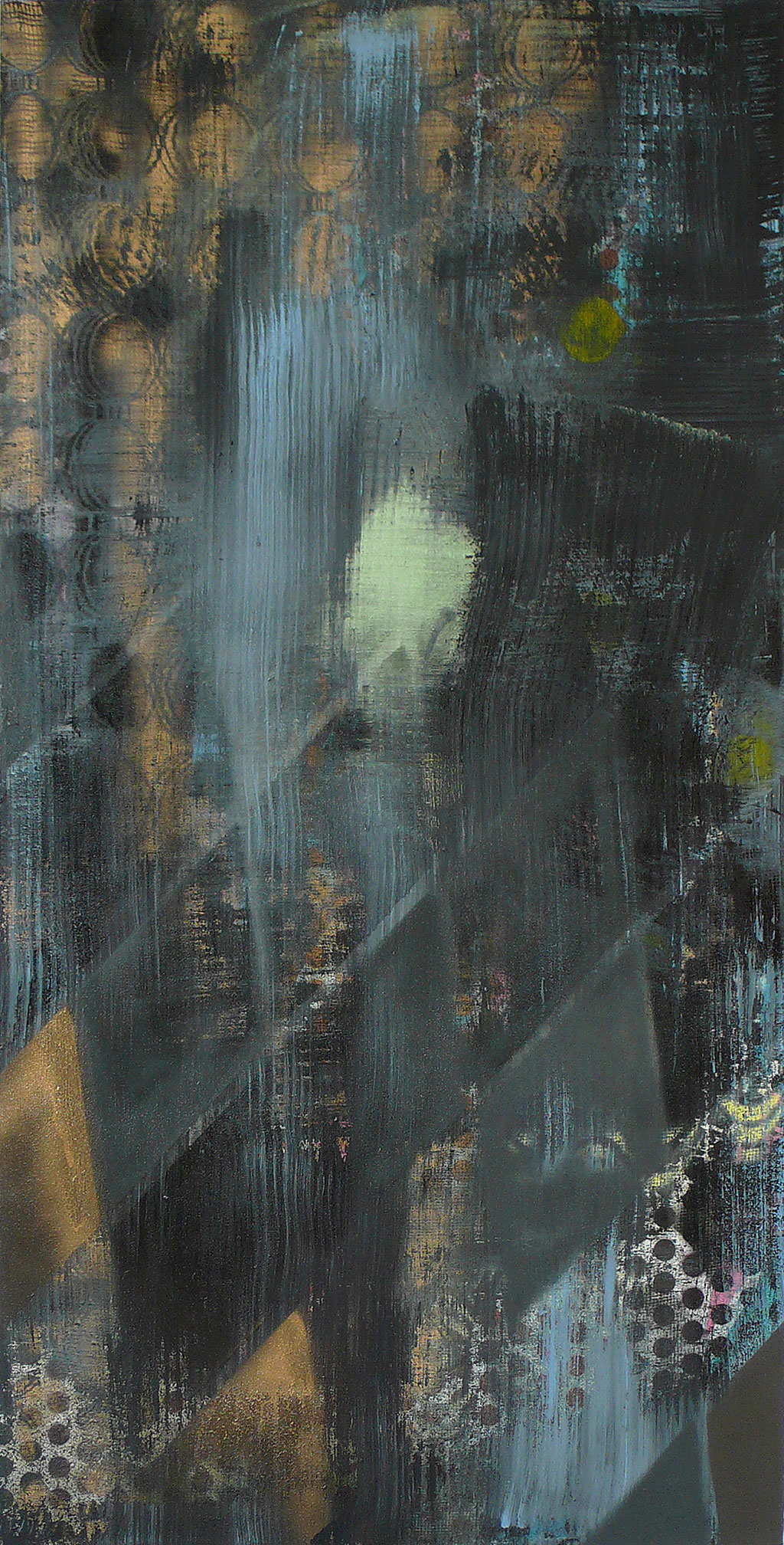 Untitled 03, 2014, 180 x 90 cm, mixed media on canvas