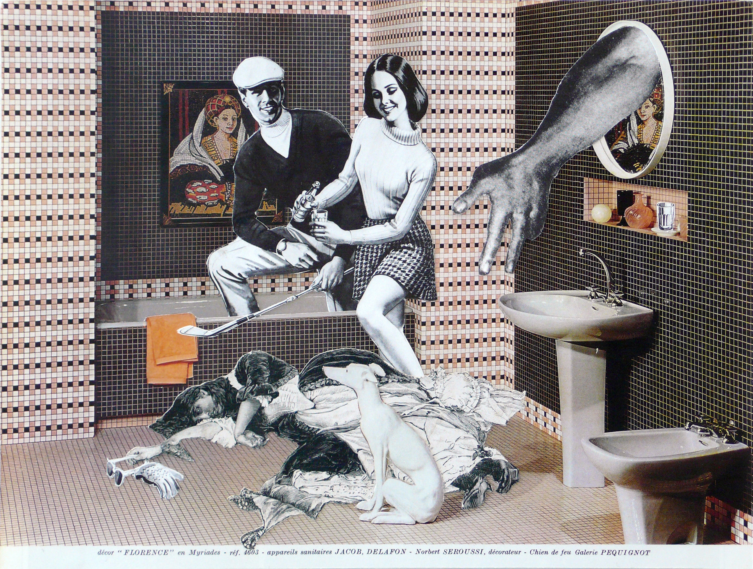 Kill & Chill, 2012, Paper and glue, 18 x 24 cm