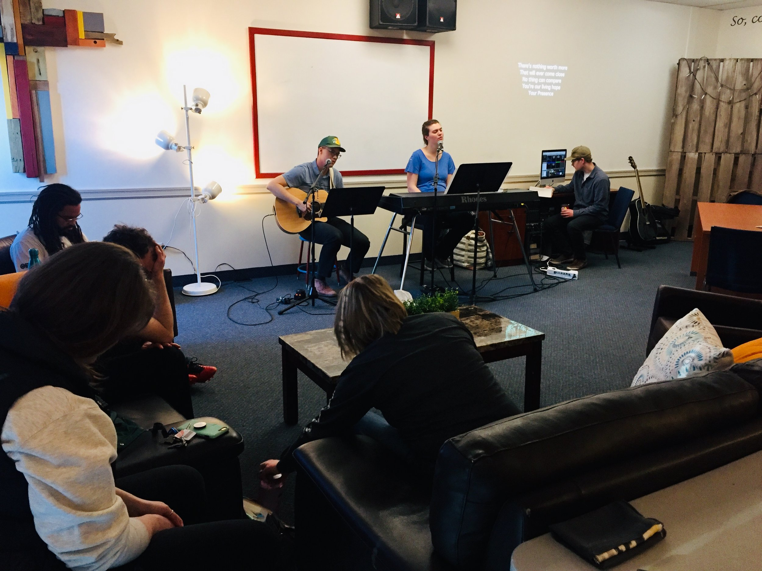 HOPE - While in Alberta, Canada we attended the House of Prayer in Edmonton. Karilyn's sister and her husband (Peter and Kathleen Wing) led worship.