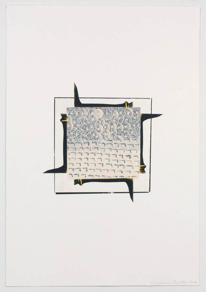 Chakaia Booker CB.1.16, 2016 Lithography and chine colle