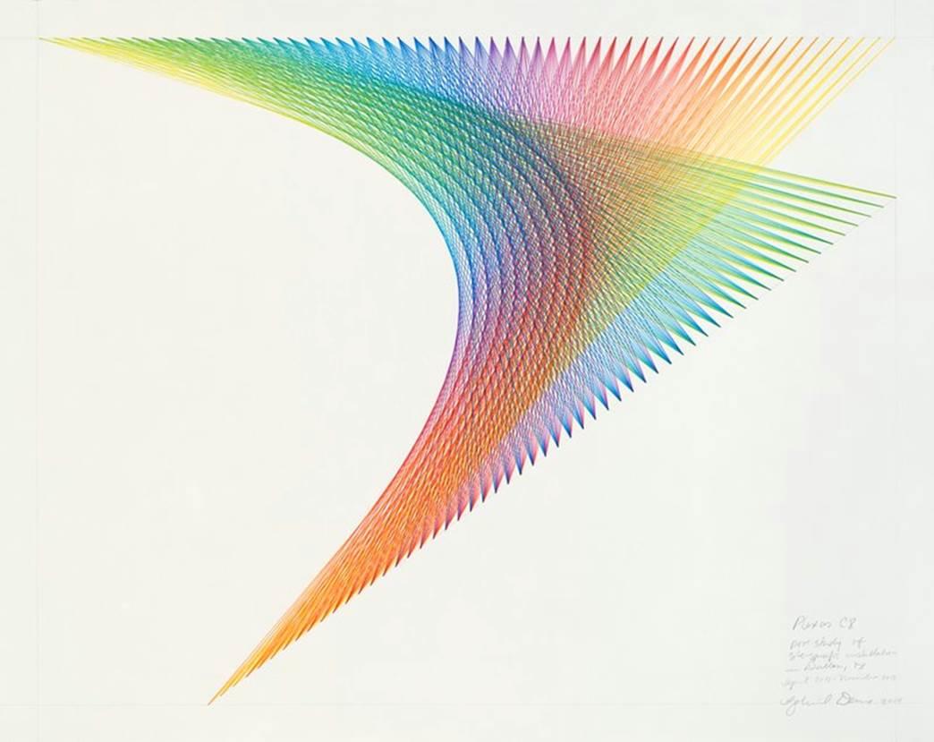 Gabriel Dawe Plexus C8, 2014 Colored pencil