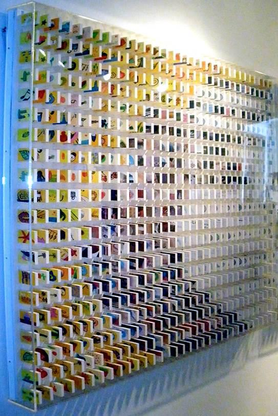 Jung San Senim Contemplation Series, 2015 Nail polish on matchboxes