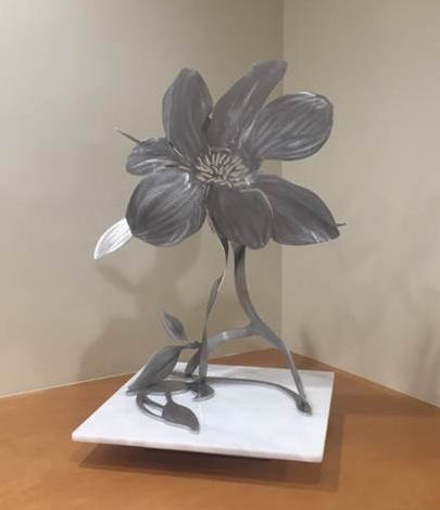 Babette Bloch Steel Magnolia I, 2016 Stainless steel and stone base