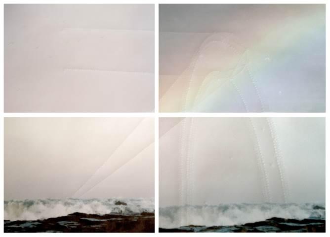 Juliette-Andrea Elie Soit A, F, D une Goutte d'Eau, 2015 Pigmentary print on tracing paper and goffering dry point