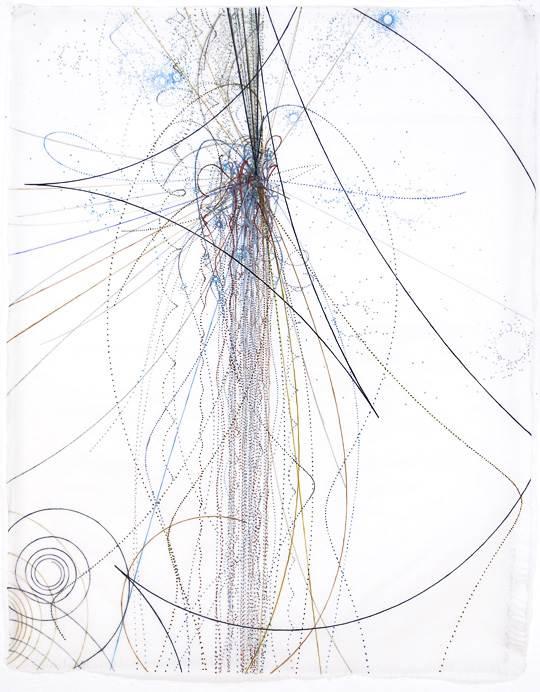 Carter Hodgkin Electromagnetic Scoop, 2008 Watercolor and gouache on handmade paper