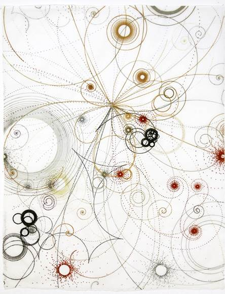 Carter Hodgkin Electromagnetic Division, 2008 Watercolor and gouache on handmade paper
