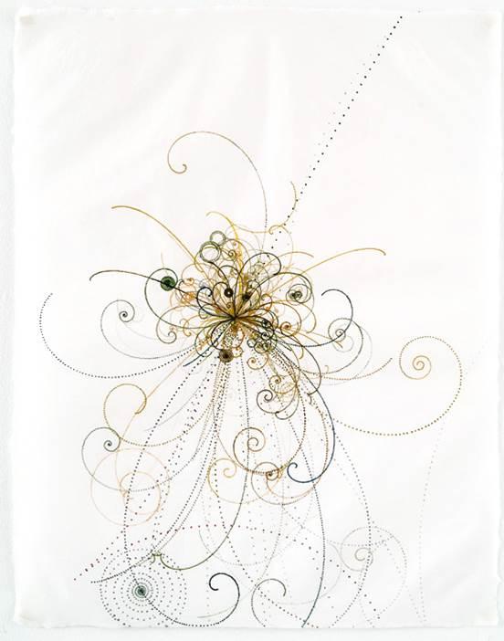 Carter Hodgkin Electromagnetic Burst, 2008 Watercolor and gouache on handmade paper